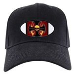 Red cross and flames Black Cap