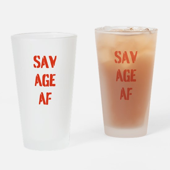 SAVAGE AF Drinking Glass