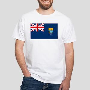 St Helena Flag White T-Shirt
