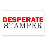 Desperate Stamper Rectangle Sticker