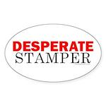 Desperate Stamper Oval Sticker