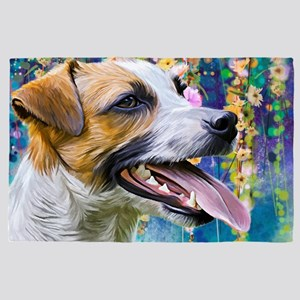 Jack Russell Terrier Painting 4' X 6' Rug