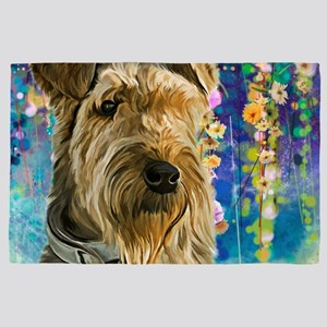 Airedale Painting 4' X 6' Rug