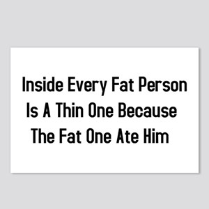Inside Fat Person Postcards (Package of 8)