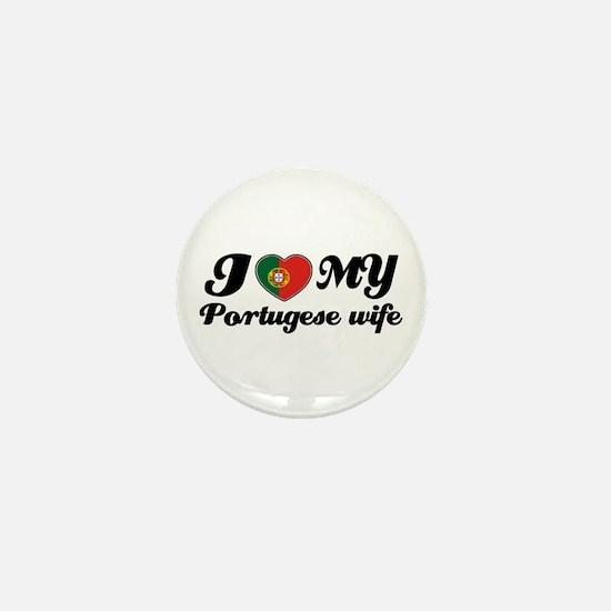 I love my portuguese wife Mini Button