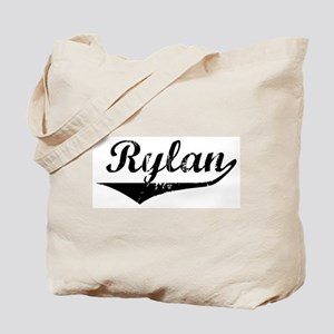 Rylan Vintage (Black) Tote Bag