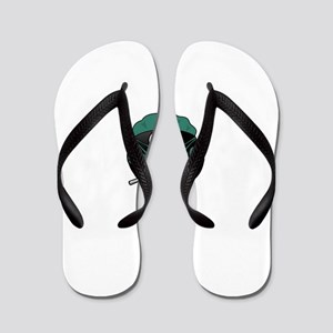 Penguin Surgeon Flip Flops