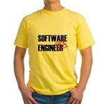 Off Duty Software Engineer Yellow T-Shirt