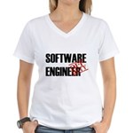 Off Duty Software Engineer Women's V-Neck T-Shirt