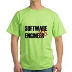 Off Duty Software Engineer Green T-Shirt