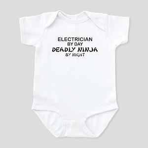 Electrician Deadly Ninja Infant Bodysuit