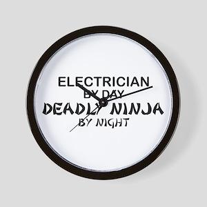 Electrician Deadly Ninja Wall Clock