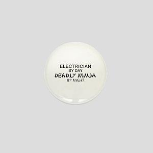 Electrician Deadly Ninja Mini Button