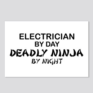 Electrician Deadly Ninja Postcards (Package of 8)