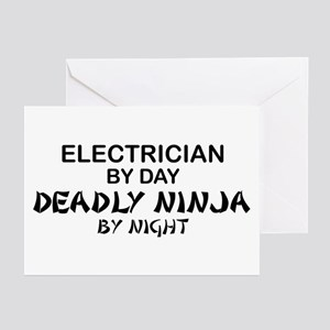 Electrician Deadly Ninja Greeting Cards (Pk of 10)