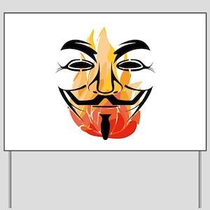 Guy Burning Fawkes Yard Sign
