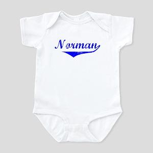 Norman Vintage (Blue) Infant Bodysuit