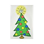 ILY Christmas Tree Rectangle Magnet