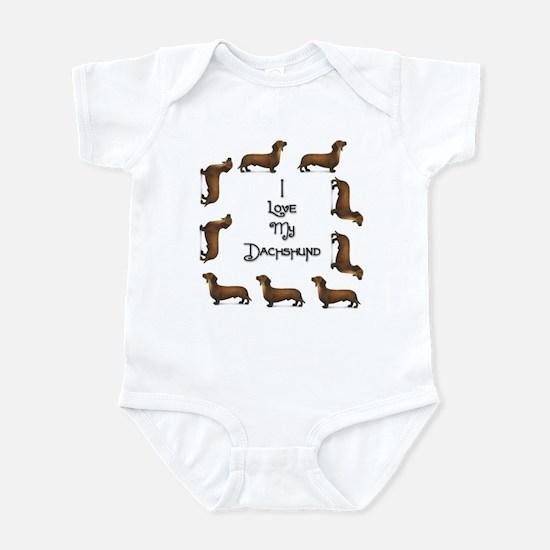 Dachshund 2 Infant Bodysuit