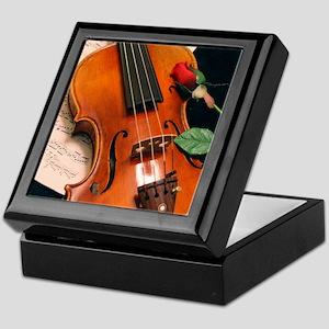 Violin & Rose Keepsake Box