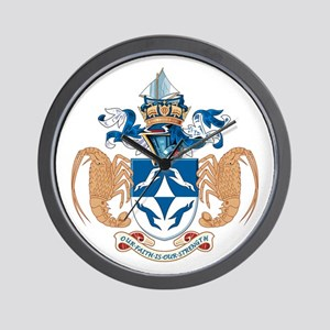 Tristan Da Cunha Coat of Arms Wall Clock