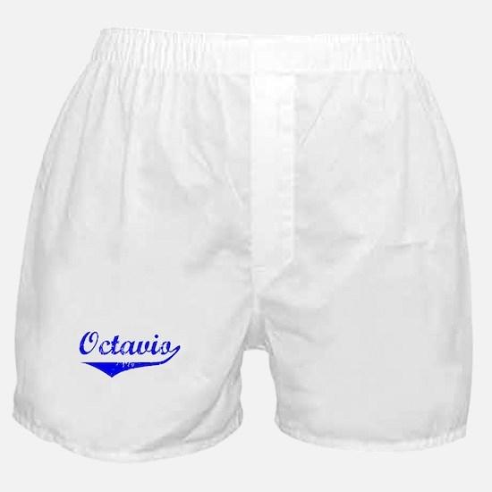 Octavio Vintage (Blue) Boxer Shorts