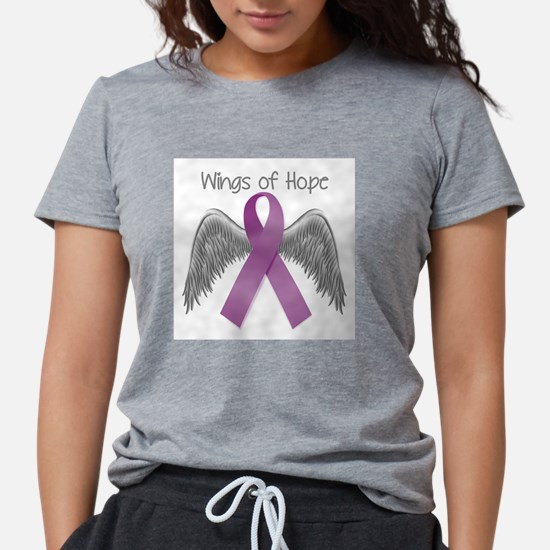 Wings of Hope in Purple T-Shirt