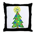 ILY Christmas Tree Throw Pillow