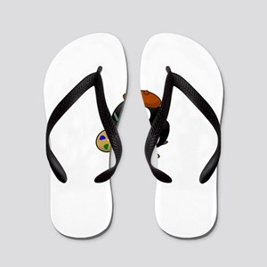 Painter Penguin Flip Flops