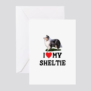 I Love My Sheltie Greeting Cards (Pk of 10)