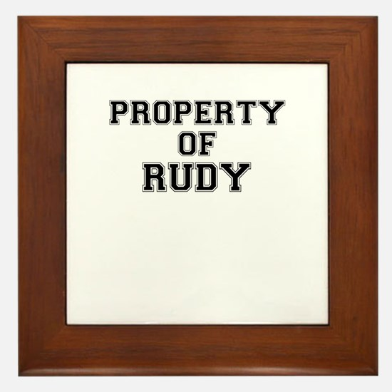 Property of RUDY Framed Tile