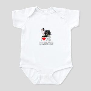 I Love My Sheltie Infant Bodysuit