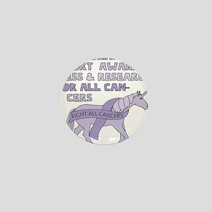 Unicorns Support Research For All Canc Mini Button