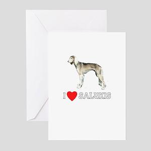 I Love Salukis Greeting Cards (Pk of 10)
