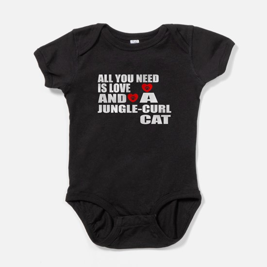 All You Need Is Love Jungle-curl Cat Baby Bodysuit