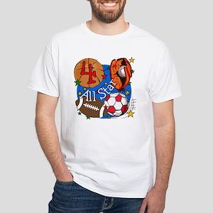 Sports 4th Birthday T-Shirt