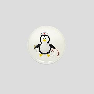 Penguin Nurse Mini Button