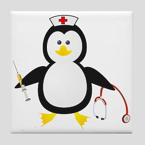 Penguin Nurse Tile Coaster