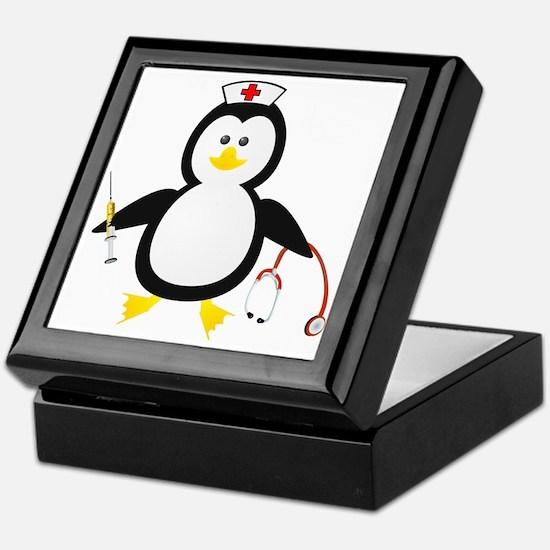 Penguin Nurse Keepsake Box