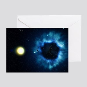 Black Hole & Star - Greeting Cards (Pkg 6)