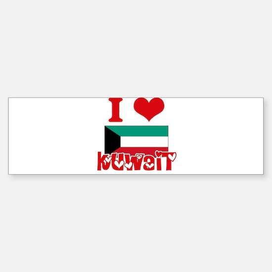 I Love Kuwait Bumper Bumper Bumper Sticker