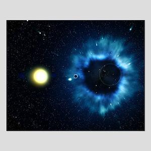 Black Hole & Companion Star - Small Poster