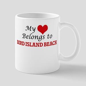 My Heart Belongs to Bird Island Beach Norther Mugs