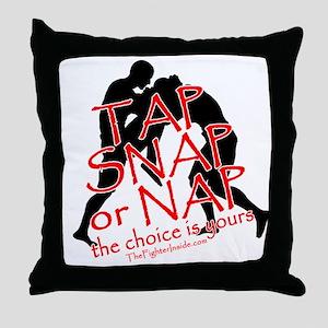 Tap Snap or Nap Throw Pillow