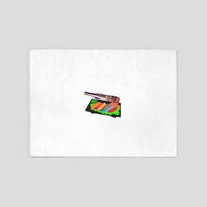 SUSHI ART 5'x7'Area Rug