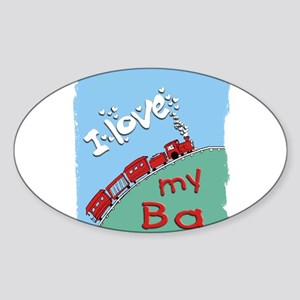 Train-Ba Oval Sticker