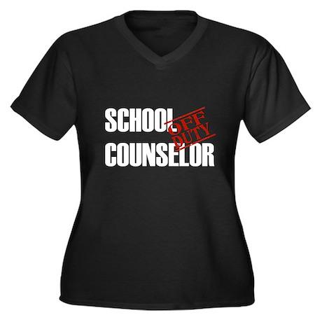 Off Duty School Counselor Women's Plus Size V-Neck