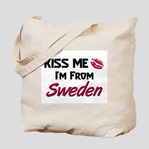 Kiss Me I'm from Sweden Tote Bag
