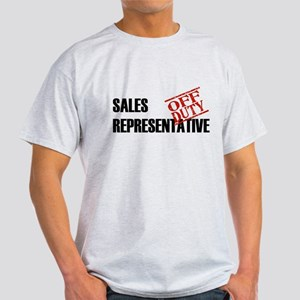 Off Duty Sales Representative Light T-Shirt