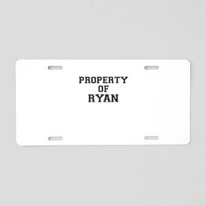 Property of RYAN Aluminum License Plate